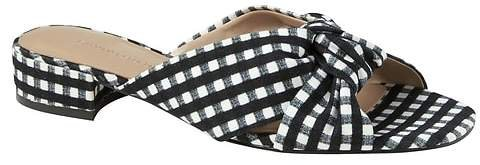 Gingham Knotted Crossover Slide