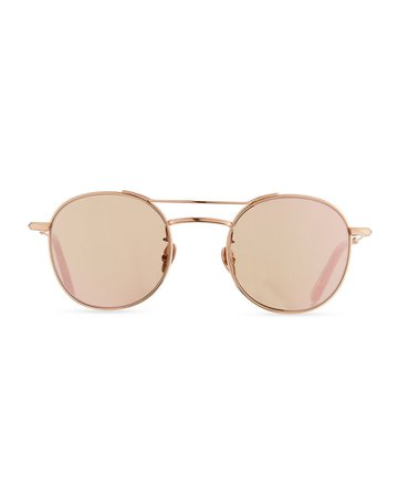 KREWE Orleans Round Mirrored Sunglasses