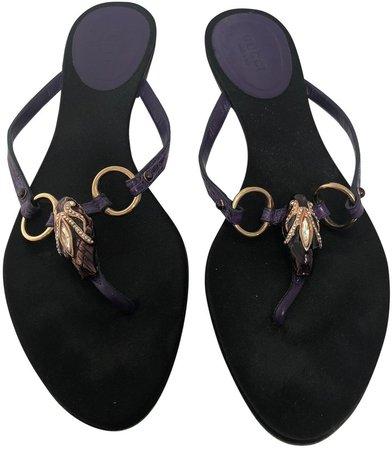 Purple Crocodile Sandals