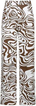 Women Fashion Butterfly Wide Leg High Waist Denim Pants Stretchy Baggy Loose Streetwear Jeans at Amazon Women's Jeans store