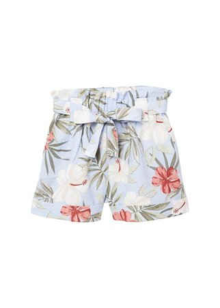 MANGO Linen printed shorts