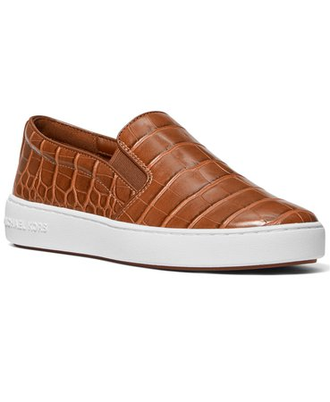 Chestnut Michael Kors Keaton Slip-On Sneakers & Reviews - Athletic Shoes & Sneakers - Shoes - Macy's
