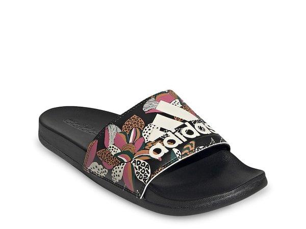 adidas Adilette Comfort Logo Slide Sandal - Women's   DSW