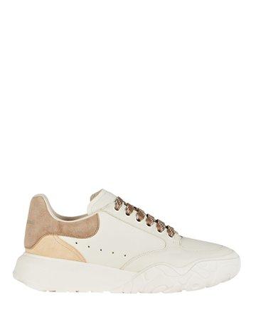 Alexander McQueen Oversized Leather Court Sneakers   INTERMIX®