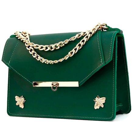 Gavi Shoulder Bag in Emerald Green by Angela Valentine Handbags