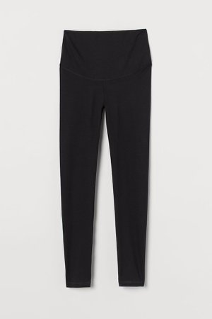 MAMA Jersey Leggings - Black