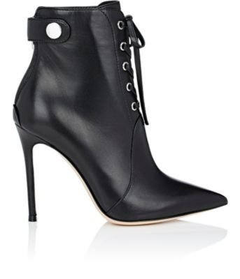 GIANVITO ROSSI Lace-Up Ankle Boots.