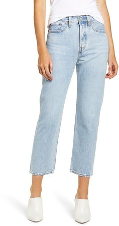 Wedgie High Waist Crop Straight Leg Jeans