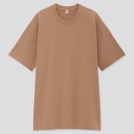 WOMEN COTTON RELAXED SLIT TUNIC | UNIQLO US brown