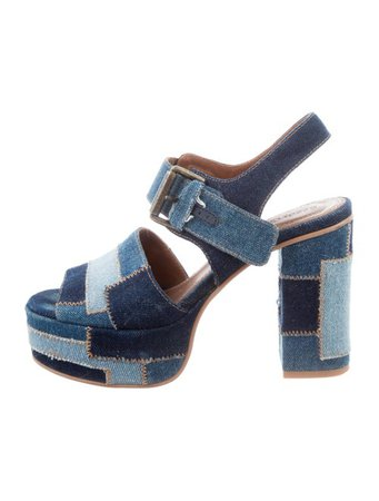 See by Chloé Denim Platform Sandals - Shoes - WSE40529 | The RealReal