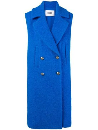 MSGM double-breasted Sleeveless Coat - Farfetch