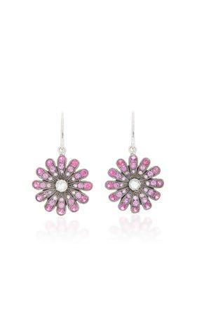 18K Gold, Ruby And Diamond Earrings by Nam Cho | Moda Operandi