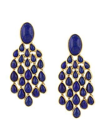 Aurelie Bidermann Lapis Lazuli drop earrings