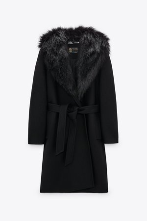 COAT WITH FAUX FUR COLLAR | ZARA United Kingdom