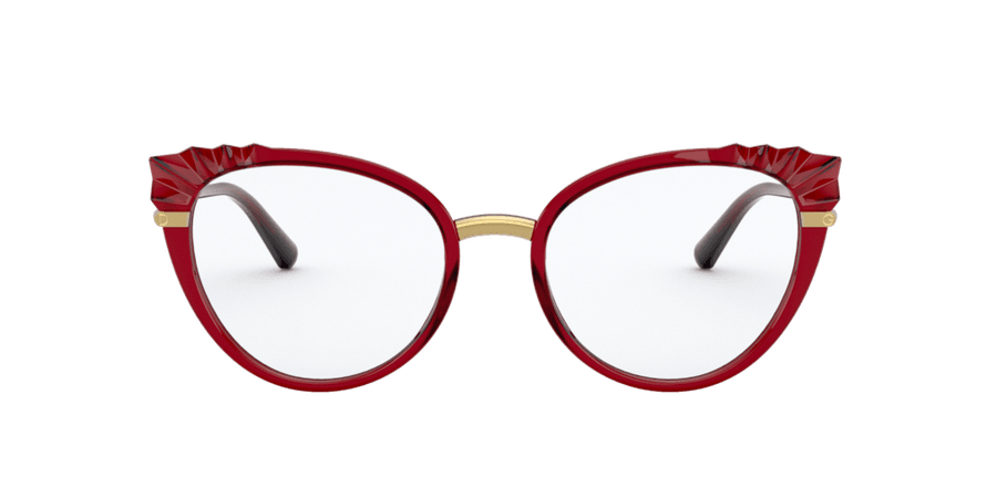 Dolce & Gabbana Red/Burgundy Cat Eye Eyeglasses at LensCrafters