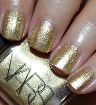Sparkly Gold Nails
