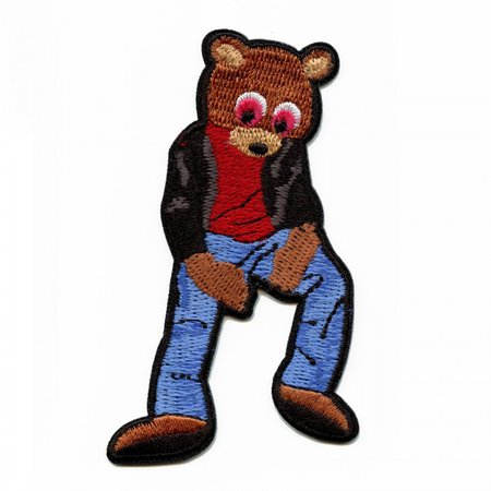 YZY Chilling Drop Out Bear Iron On Applique Patch