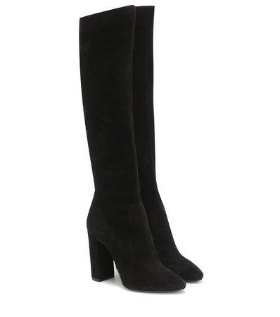 Lou 105 Suede Knee-High Boots - Saint Laurent | Mytheresa