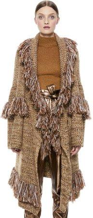 Astrid Shawl Collar Finge Coat