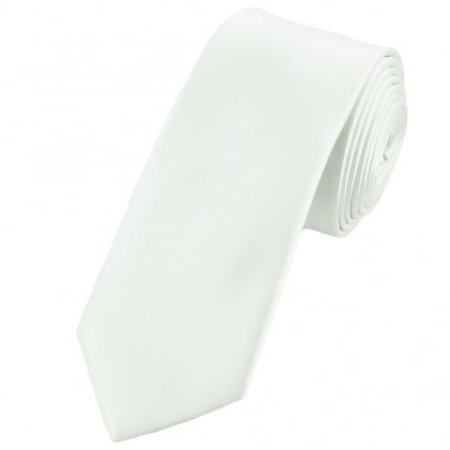Plain White 6cm Skinny Tie from Ties Planet UK
