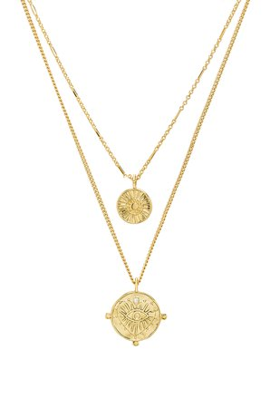 x REVOLVE The Double Coin Charm Necklace