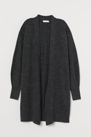 Long Cardigan - Dark gray melange - Ladies | H&M US