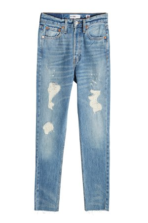 High-Rise Cropped Jeans Gr. 26