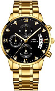 Amazon.com : gold plated watch for men