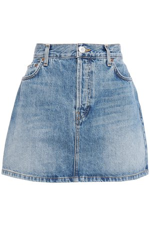 Mid denim Faded denim mini skirt | Sale up to 70% off | THE OUTNET | RE/DONE | THE OUTNET