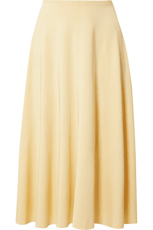 ModeSens Iphy Flu Jersey Midi Skirt In Pastel Yellow Acne Studios