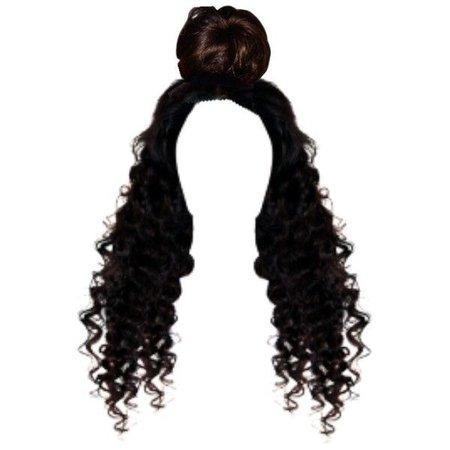 hair half up bun
