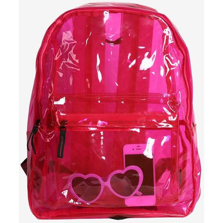 90s Jelly Backpack Pink
