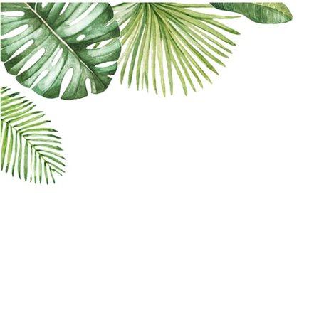 tropical leaves corner