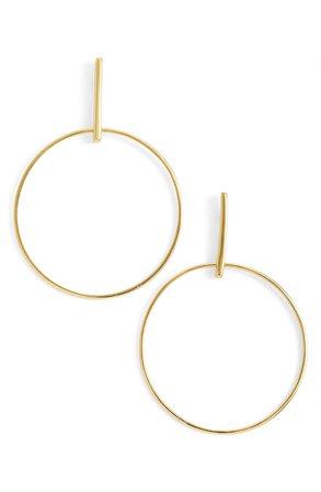 Argento Vivo Frontal Hoop Earrings | Nordstrom