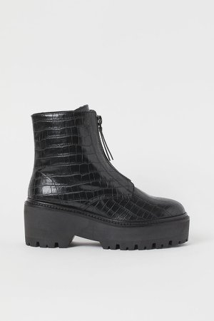 Warm-lined Boots - Black