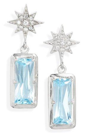 Anzie Blue Topaz Drop Earrings | Nordstrom
