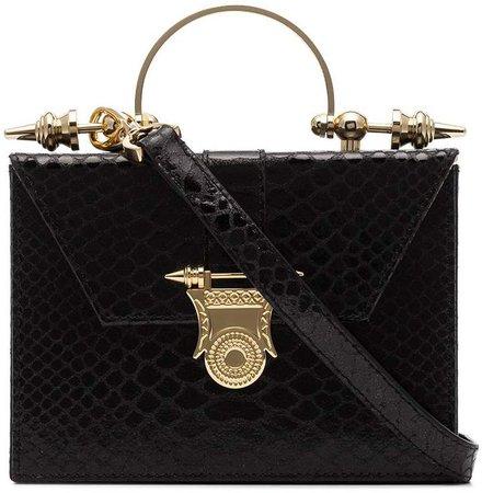 Okhtein Mahogany on Brass crossbody bag
