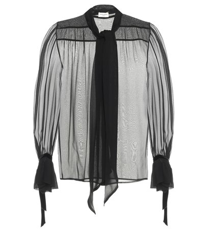 Saint Laurent - Silk blouse | Mytheresa