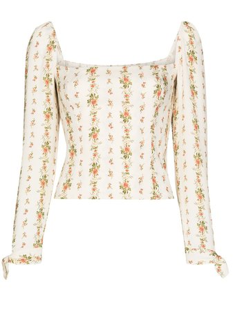 Reformation Ariana Floral Print Blouse - Farfetch