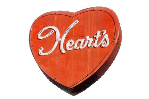 Hearts sign