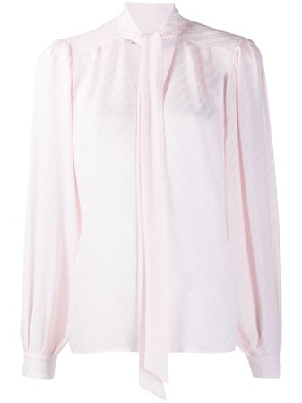 Shop pink Givenchy striped pussybow blouse with Express Delivery - Farfetch