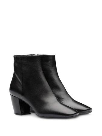 Prada Nappa Leather Ankle Boots 1T886IFB065038 Black | Farfetch