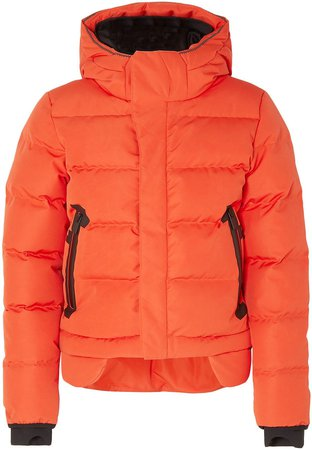 2l Bio Cropped Quilted Shell Hooded Down Jacket