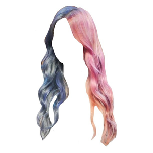 Blue and Pink Hair