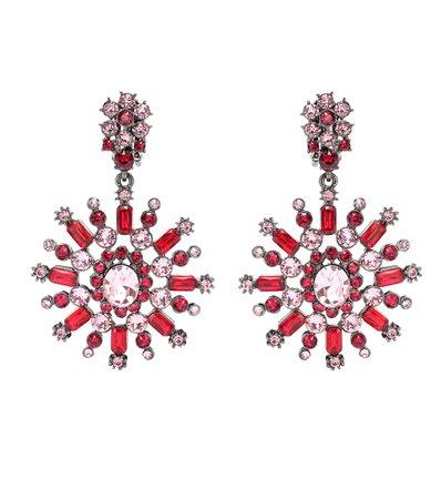 Crystal-Embellished Earrings - Oscar de la Renta | mytheresa