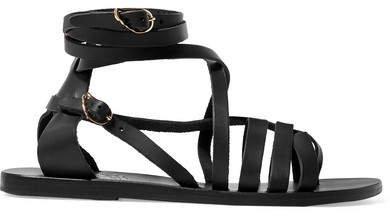 Satira Leather Sandals - Black