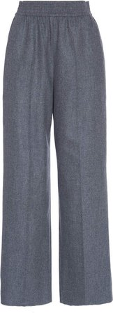Agnona Elastic Waist Wool-Blend Tailored Pants