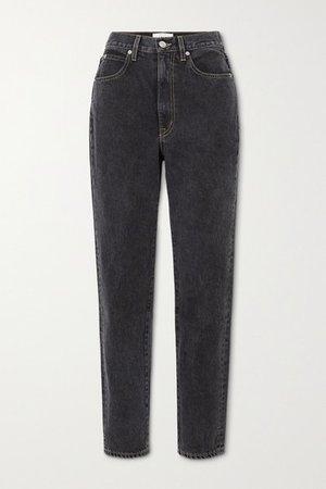 Beatnik High-rise Slim-leg Jeans - Charcoal