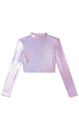 Sequin crop top with shoulder pads - Women's Just in | Stradivarius United States
