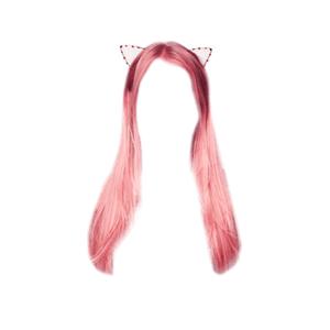 pink hair png headband